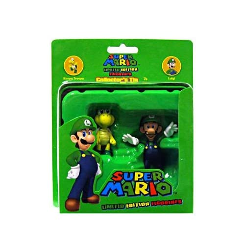 Nintendo Super Mario Luigi & Koopa Troopa Collectors Tin Figure