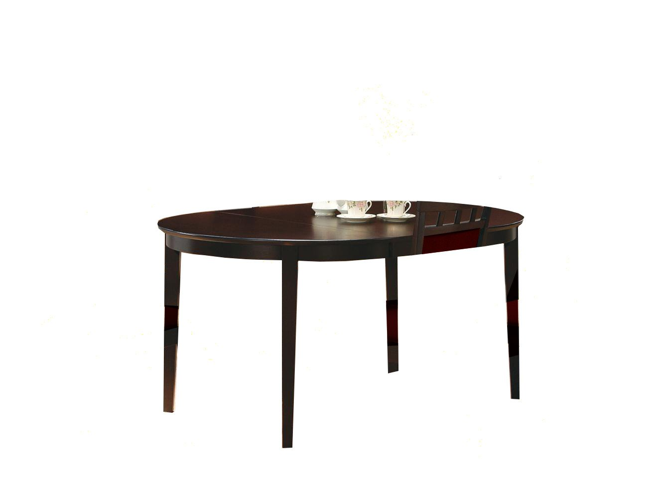 Cappuccino finish wood dining table oval kitchen tables for Dining table finish