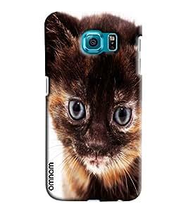 Omnam Black Cat Printed Designer Back Cover Case For Samsung Galaxy S6