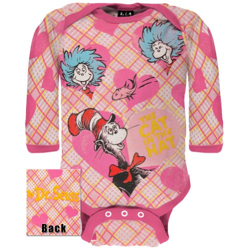 Dr. Seuss - Cats Hearts Friends Long Sleeve Infant Bodysuit - 0-3 Months front-1073041