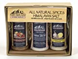All Natural Himalayan Salt Gift Pack No MSG No Artificial Flavors Seasoning Salt (3.25 oz), Gourmet Table Salt (4 oz), Garlic Lemon Pepper Salt (2.25 oz)