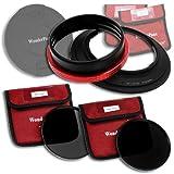 WonderPana 145 Neutral Density Kit - 145mm Filter Holder, Lens Cap, ND16 and ND32 Filters for the Nikon 14-24mm AF-S Zoom Nikkor f/2.8G ED AF Lens (Full Frame 35mm)
