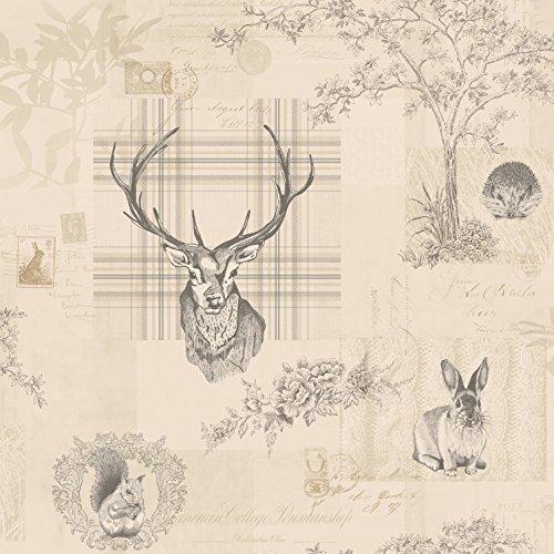 papel-de-pared-holden-con-cuadros-arboles-ciervos-caligrafia-en-gris-oscuro-98012-k2