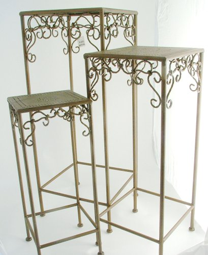 Ornate Metal Nesting Tables/Plant Stands (set of 3) - Buy Ornate Metal Nesting Tables/Plant Stands (set of 3) - Purchase Ornate Metal Nesting Tables/Plant Stands (set of 3) (In the Garden and More, Home & Garden,Categories,Patio Lawn & Garden,Patio Furniture)