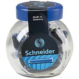 Schneider Pot de 30 cartouches d'encre effaçable Bleu Royale