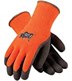 PIP WA1403A Tek Seamless Knit Latex Grip Work Glove Large, Orange & Brown