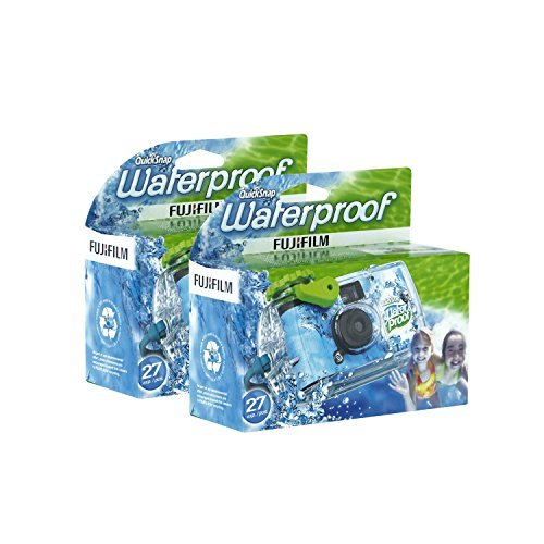 Fujifilm-Disposable-QuickSnap-Waterproof-Pool-Underwater-35mm-Camera-Pack-of-2