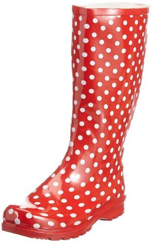 Playshoes, Stivali da pioggia donna - Rosso, 37 EU