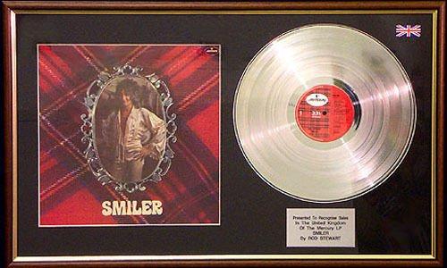 Rod Stewart-Smiler LP Platinum Disc & Cover