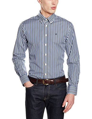 hackett-london-classic-check-camisa-para-hombre-blue-navy-white-xx-large