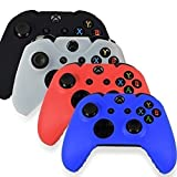 Xbox One Wireless Controller Skin Case Cover Accessories 4 Colors Package - Black White Blue Red
