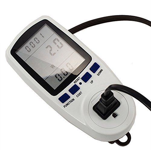 iMeshbean® Digital LCD Electricity Usage Monitor Watt Voltage Amps Meter USA