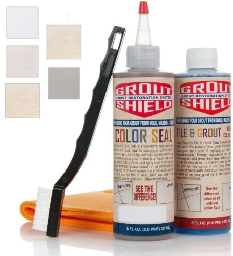 Grout Shield GS8IOW 8-Ounce Color Seal Kit, Off White
