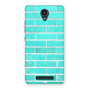 Delighted Brick Cyan Back Case Cover for Redmi Note 2