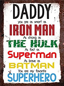 Vintage Metal Wall Sign - Daddy