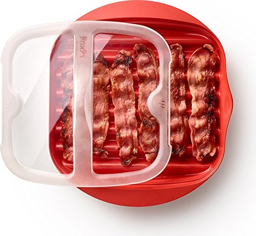 Lekue Microwave Bacon Maker/Cooker with Lid, 11.02