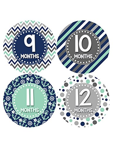 Months in Motion 412 Monthly Baby Stickers Boy Monthly Photo Milestone Month