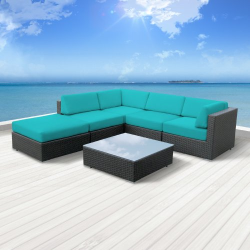 Luxxella Outdoor Patio Wicker Beruni Turquoise