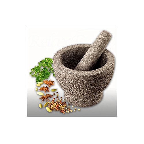 Mortier massif avec pilon en granit 3,7 kg