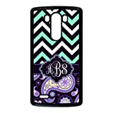 Personalized Navy Mint Chevron Vs Purple European Retro Pattern Unique Custom LG G3 Best Durable Plastic Cover Case