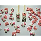 Nail Art 3d 40 Pieces Mix Pink Hello Kitty/Bow for Nails, Cellphones 1.3cm*.9cm