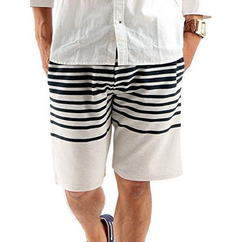 (ラフタス)Rafftas ボーダー柄 スウェット ショートパンツ M サイズ 細 ボーダー 春 夏 秋 パンツ メンズ men's