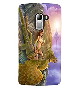 ColourCraft Fighter Angel Design Back Case Cover for LENOVO A7010