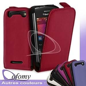 Dofomy - Housse Coque Etui Slim Rouge Pour Blackberry Curve 9360