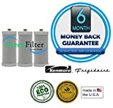 Frigidaire WFCB Certified Green Refrigerator Water Filter 3 Pack