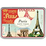 Cavallini Gift Tags Paris, 36 Assorted Gift Tags