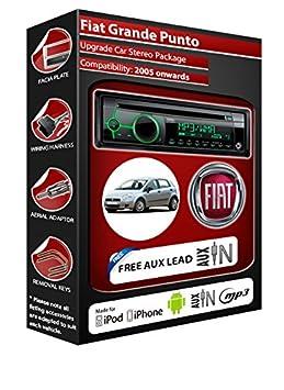 Fiat Grande Punto Autoradio CD MP3 radio play Clarion, iPod, iPhone, Android