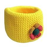 De invierno para infantil con forma de Lacaca de punto cruzado bebé de arandelas-ring para el cuello de lana bufanda del equipo de fútbol calentador de pene para hombres amarillo