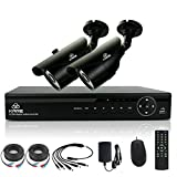 [TRUE 960p ProHD] SMART CCTV System, KARE 1080N DVR Recorder with 2x Super HD 1.3MP Outdoor Cameras (P2P Technology, 1280x960 Bullet Cam Even Better Than 720P, Rapid USB Storage Backup, Vandal and Water-Proof Body, Night Vision, Mobile App: Xmeye)