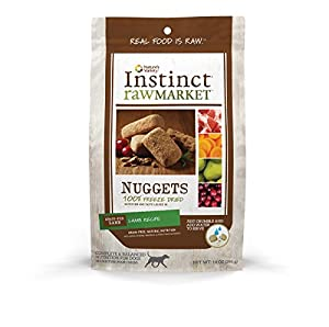 Nature's Variety Instinct Raw Market Grain-Free Freeze Dried Lamb Recipe Nuggets for Dogs, 14 oz. Bag