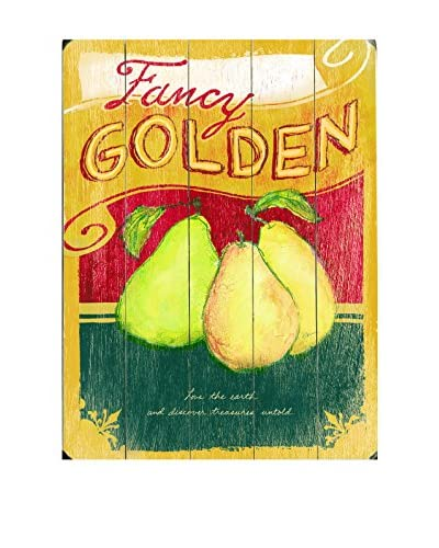 Fancy Golden Pears Wood Wall Décor