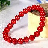 【M1/内周約16cm】 3月誕生石♪ 最高級5A★赤珊瑚 φ8mm コーラル ブレスレット☆Love Red♪
