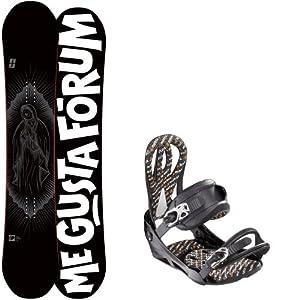 Buy Forum Deck 154 Mens Snowboard + Artec Matrix Black Bindings - Fits Boot Sizes: 9,10,11 by Forum Novelties