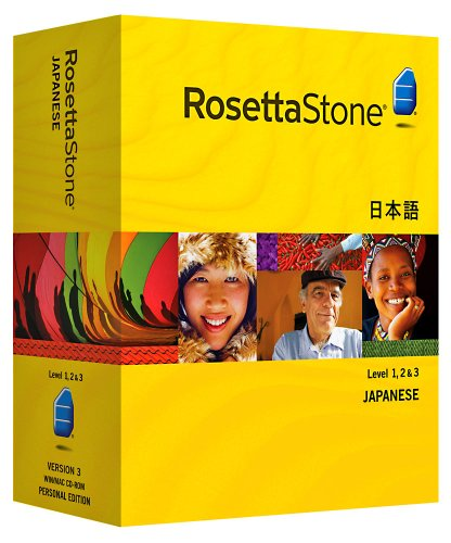 Rosetta Stone Japanese Level 1, 2 & 3 Set with Audio Companion