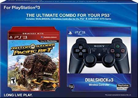 MotorStorm Pacific Rift with DualShock 3 Bundle (Black)