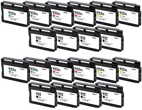 Prestige Cartridge HP 932XL / HP 933XL 20-er Pack Druckerpatronen für HP Officejet 6100, 6600, 6700, 7110, 7600, 7610, 7612, schwarz / cyan / magenta / gelb
