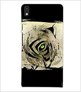 PrintDhaba Devil Eye D-5496 Back Case Cover for HUAWEI ASCEND P6 (Multi-Coloured)