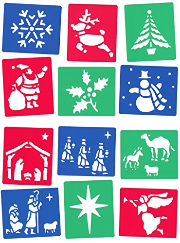 12-washable-stencils-christmas-and-nativity-themes-13cm-x-15cm