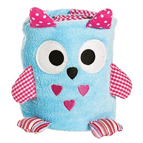 Blue Owl Rolled Blanket