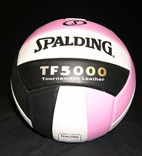 Spalding TF-5000 Tournament Leather NFHS APPROVED Pink White Black