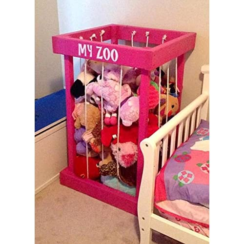 toy box - stuffed animal zoo - stuffed animal storage - toy storage - my zoo - toy organization - kids room decor - Christmas present - Christmas gift - gift for children - zoo for stuffed animals