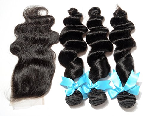 Danolsmann-Hair-Extensions-3-Bundles-Indian-Virgin-Hair-Loose-Wave-with-1-Piece-Lace-Closure-44-Natural-Color-Human-Hair-Extensions-182022-Hair-Weft12-Lace-Closure