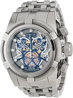 Invicta Men's 12898 Bolt Reserve Chronograph Silver and Gold Tone Dial Stainless Steel Watch