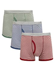3 Pack Authentic Stretch Cotton Feeder Striped Trunks