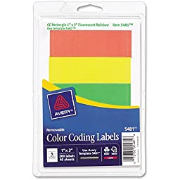 AVE05481 - Avery Print or Write Color Coding Label