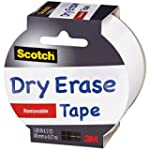 Scotch Dry Erase Tape, White, 1.88-In...
